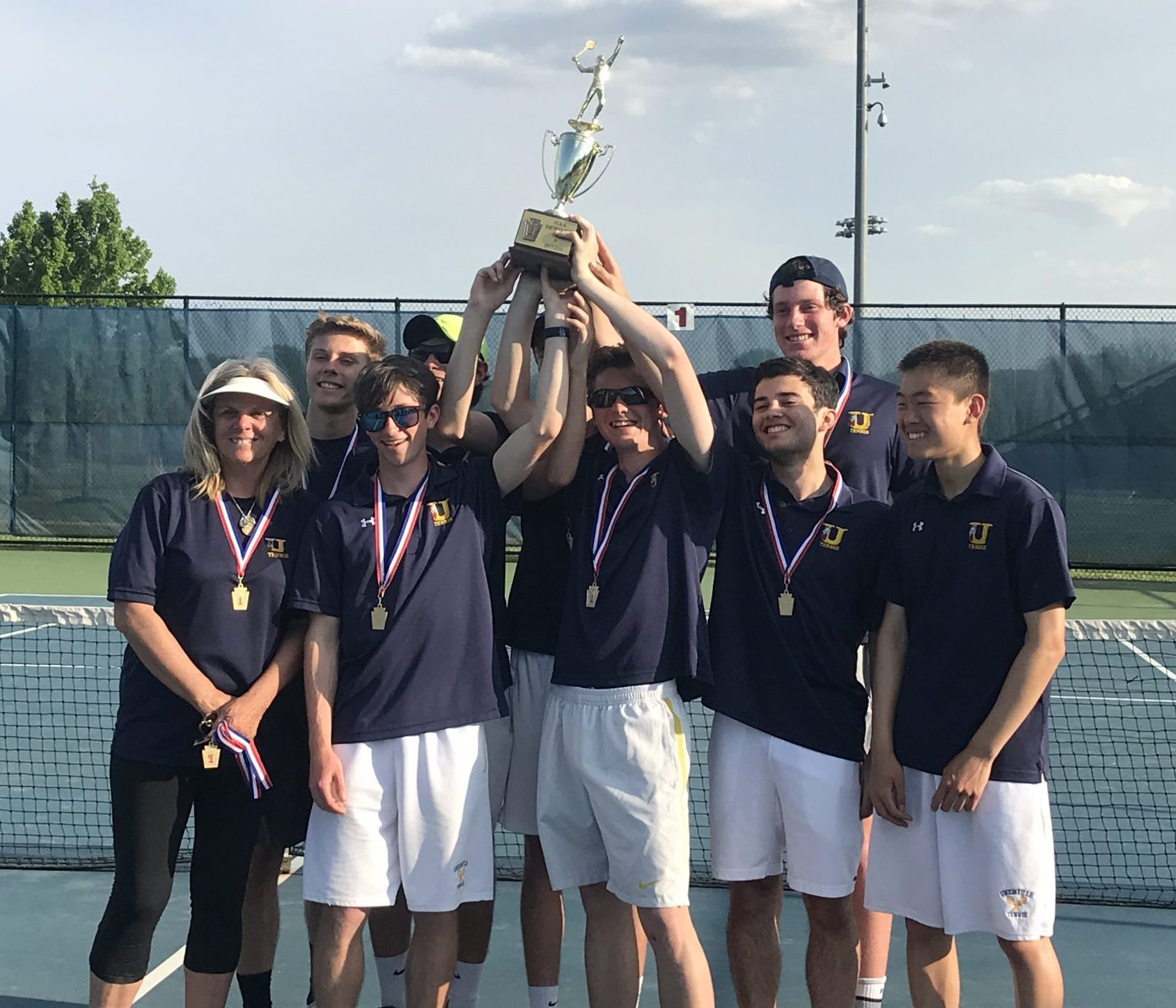 Unionville Boys' Tennis Team Ends Season With First State Title